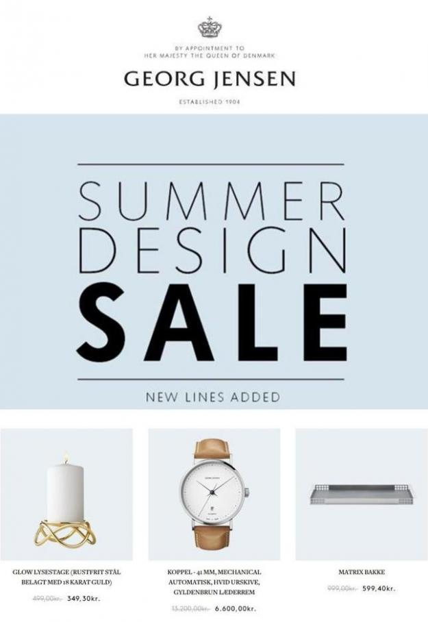 Summer design sale . Georg Jensen (2019-09-24-2019-09-24)