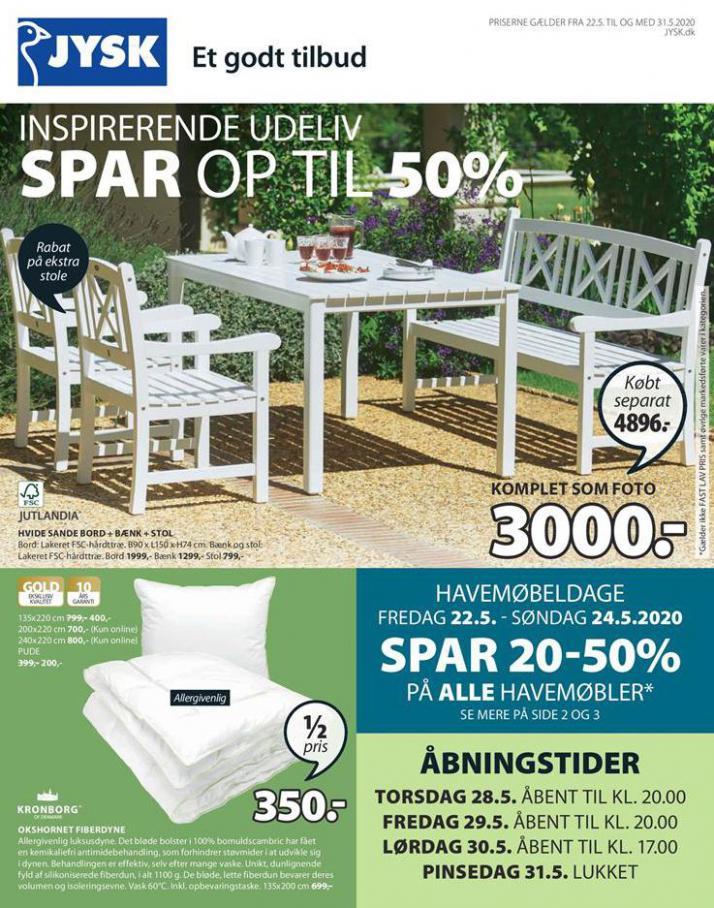 Spar op til 50% . JYSK (2020-05-31-2020-05-31)