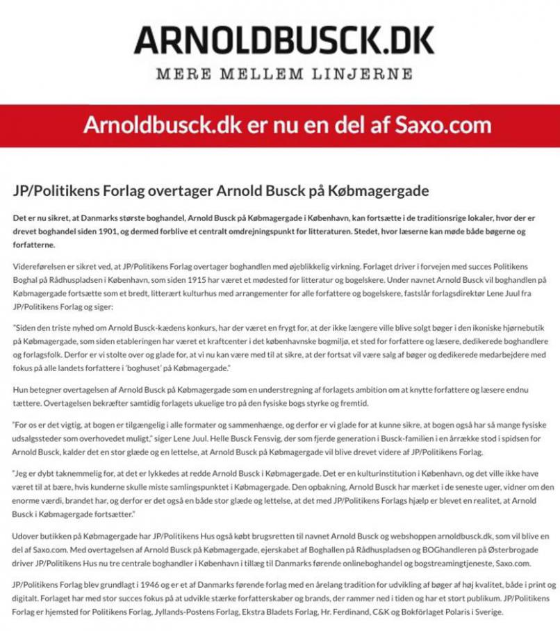 Arnold Busck information . Arnold Busck (2020-06-30-2020-06-30)