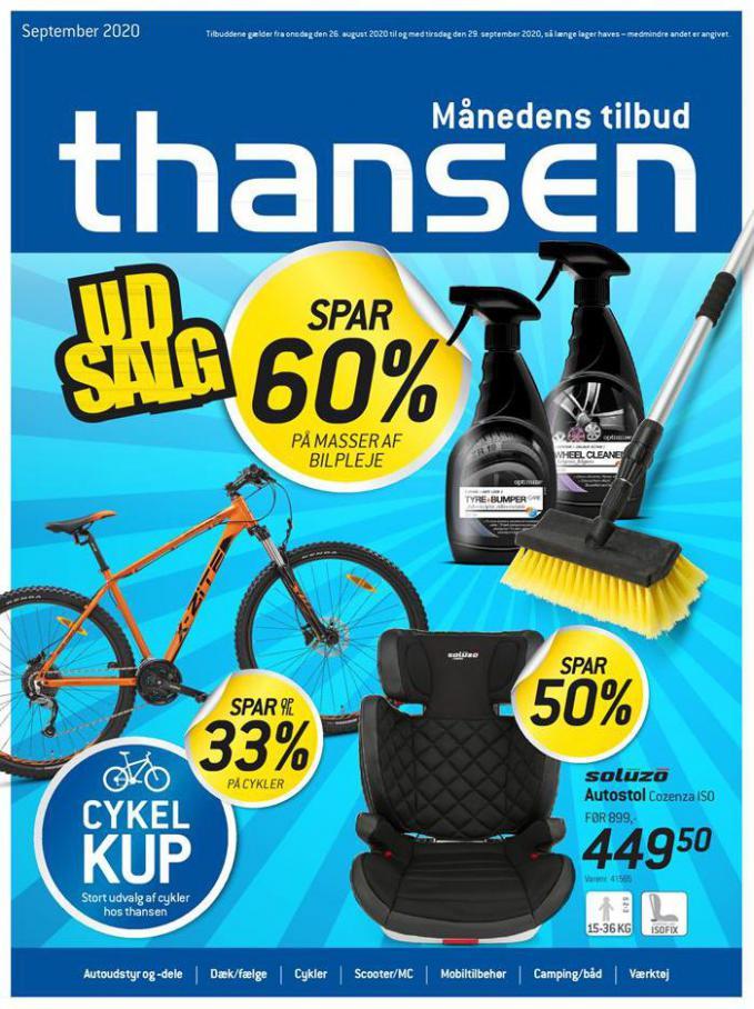 Udsalg spar op til 60% . Thansen (2020-09-29-2020-09-29)
