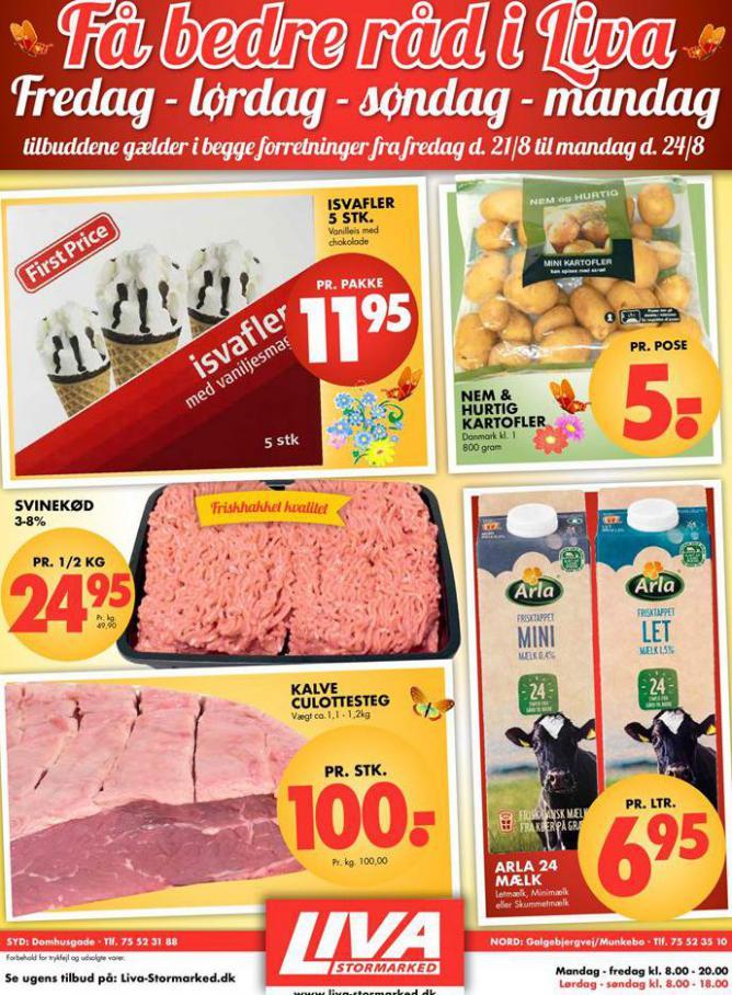 Ugens tilbud! . Liva-Stormarked (2020-08-24-2020-08-24)