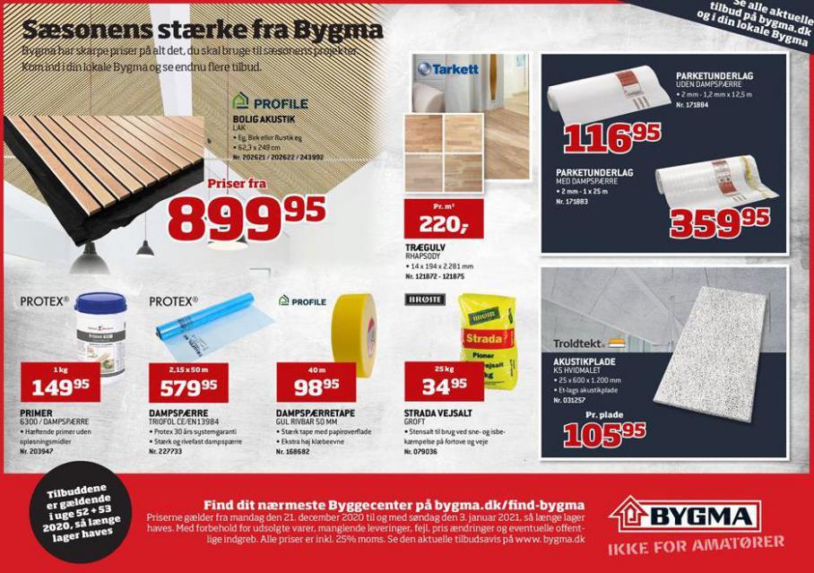 Sæsonens stærke fra Bygma . Bygma (2021-01-03-2021-01-03)
