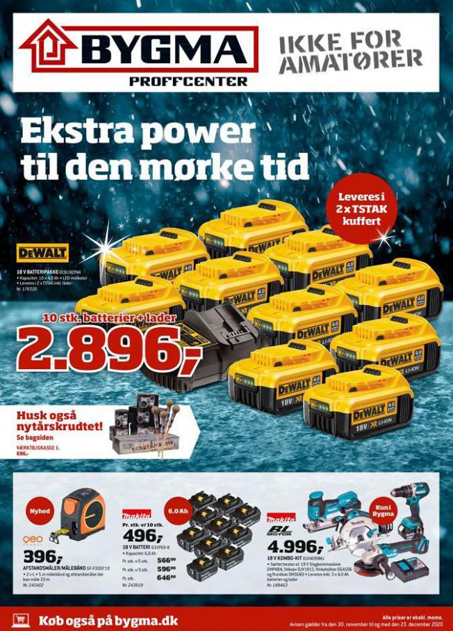Ekstra power til den mørke tid . Bygma (2020-12-23-2020-12-23)