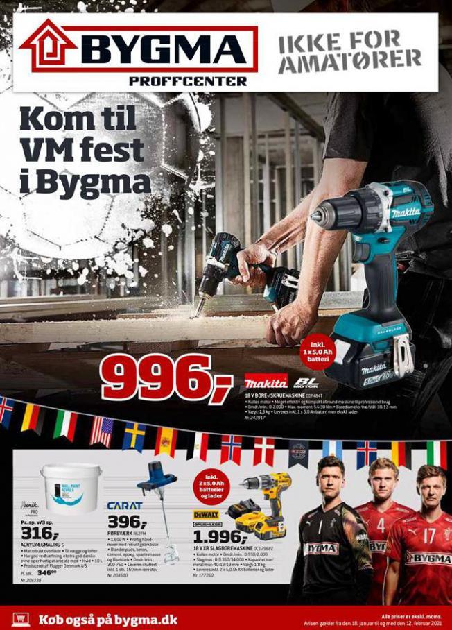 Kom til VM fest i Bygma . Bygma (2021-02-12-2021-02-12)
