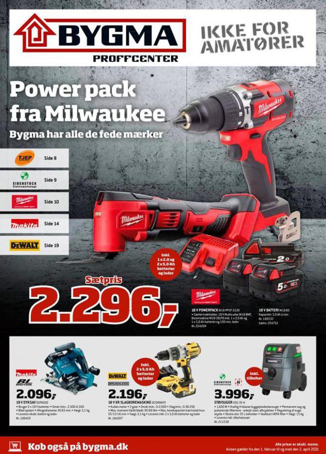 Power pack fra Milwaukee . Bygma (2021-04-02-2021-04-02)