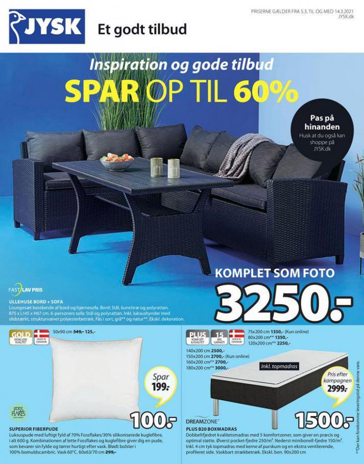 Spar op til 60% . JYSK (2021-03-14-2021-03-14)