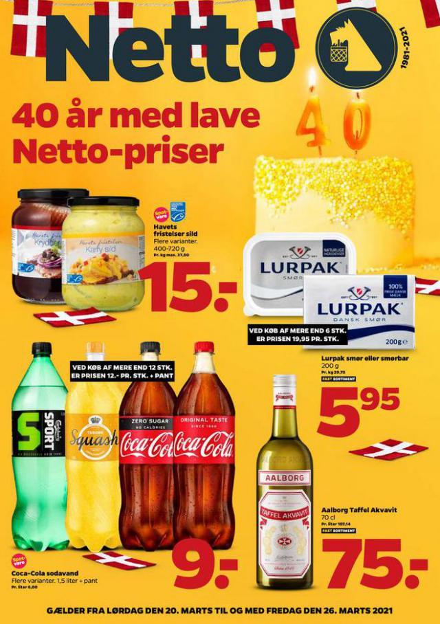 40 år med lave Netto-priser . Netto (2021-03-26-2021-03-26)