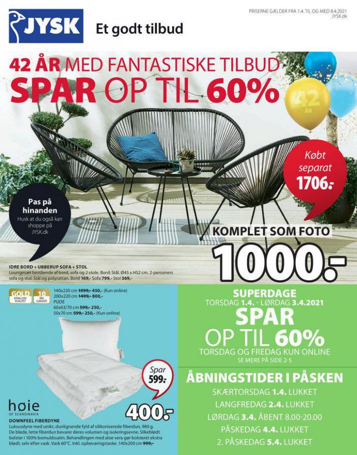 Spar op til 60% . JYSK (2021-04-08-2021-04-08)