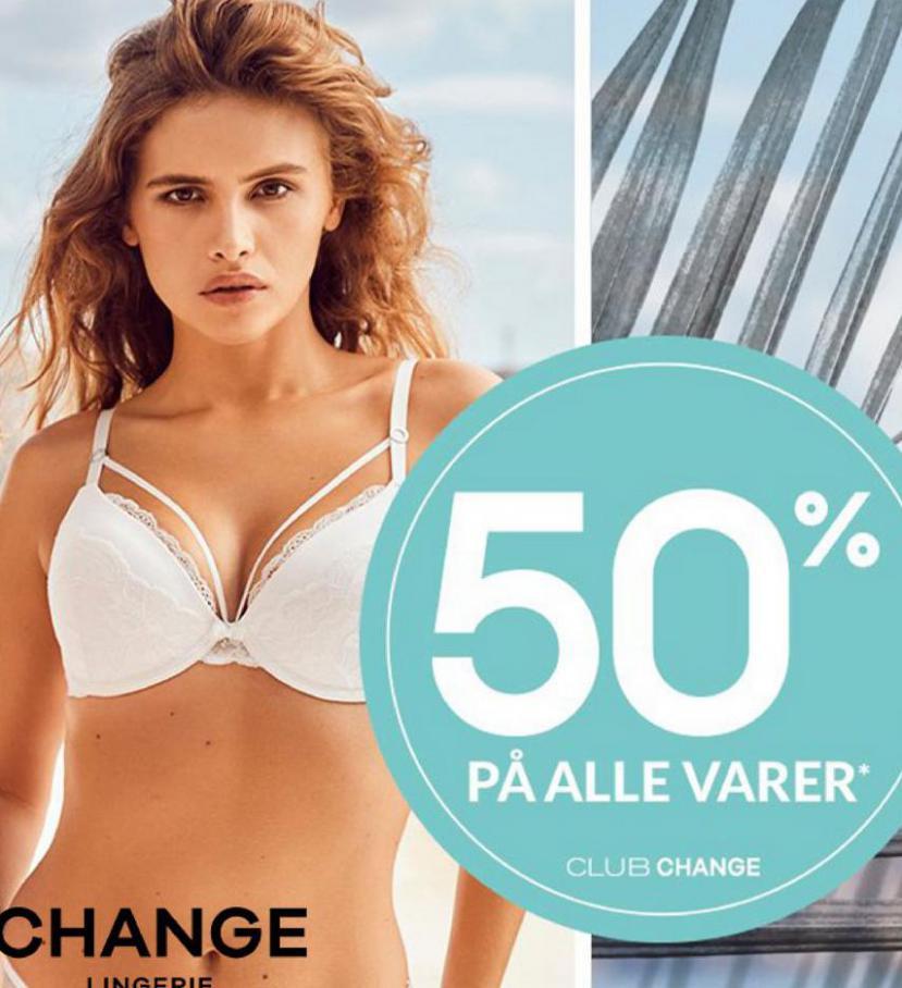 50% på alle varer* . Change (2021-05-23-2021-05-23)
