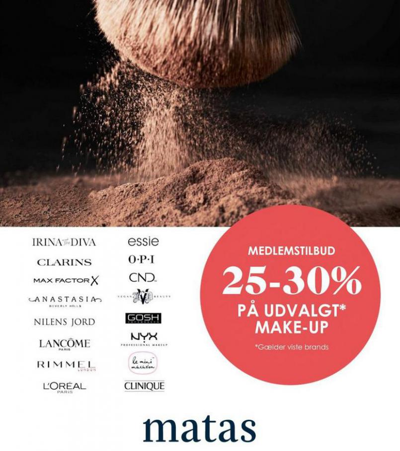 - 30% på udvalgte makeupbrands . Matas (2021-04-12-2021-04-12)