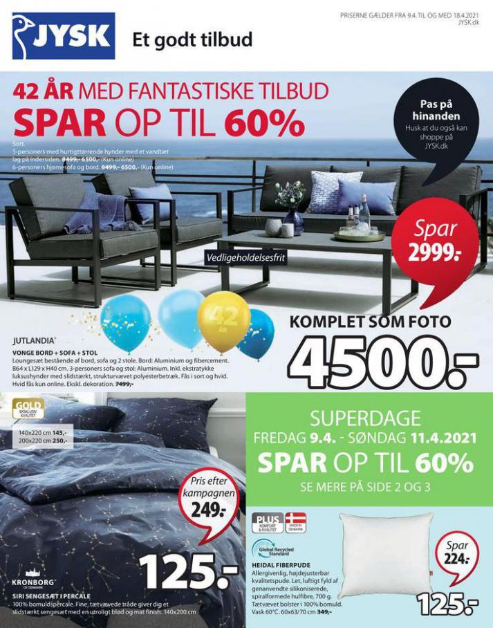 Spar op til 60% . JYSK (2021-04-18-2021-04-18)