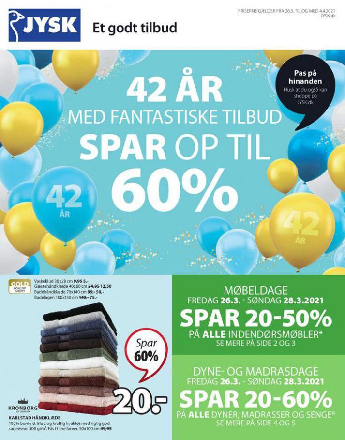 Spar op til 60% . JYSK (2021-04-04-2021-04-04)