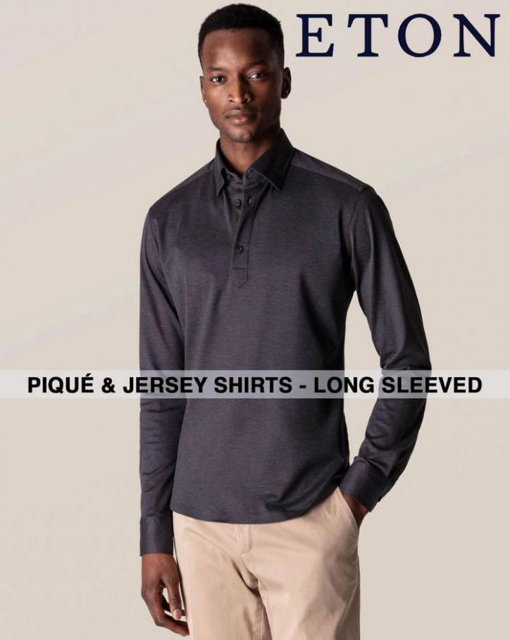 Piqué & Jersey Shirts - Long Sleeved. Eton (2021-07-29-2021-07-29)