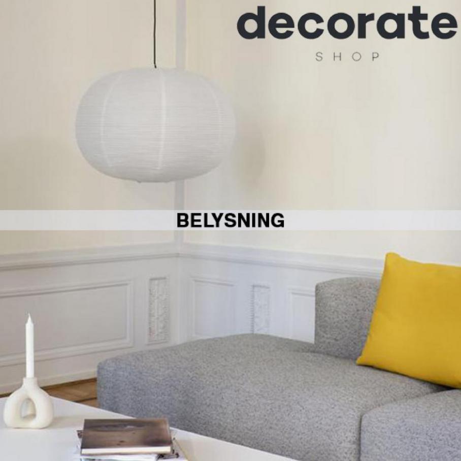 Belysning. Decorate Shop (2021-11-25-2021-11-25)